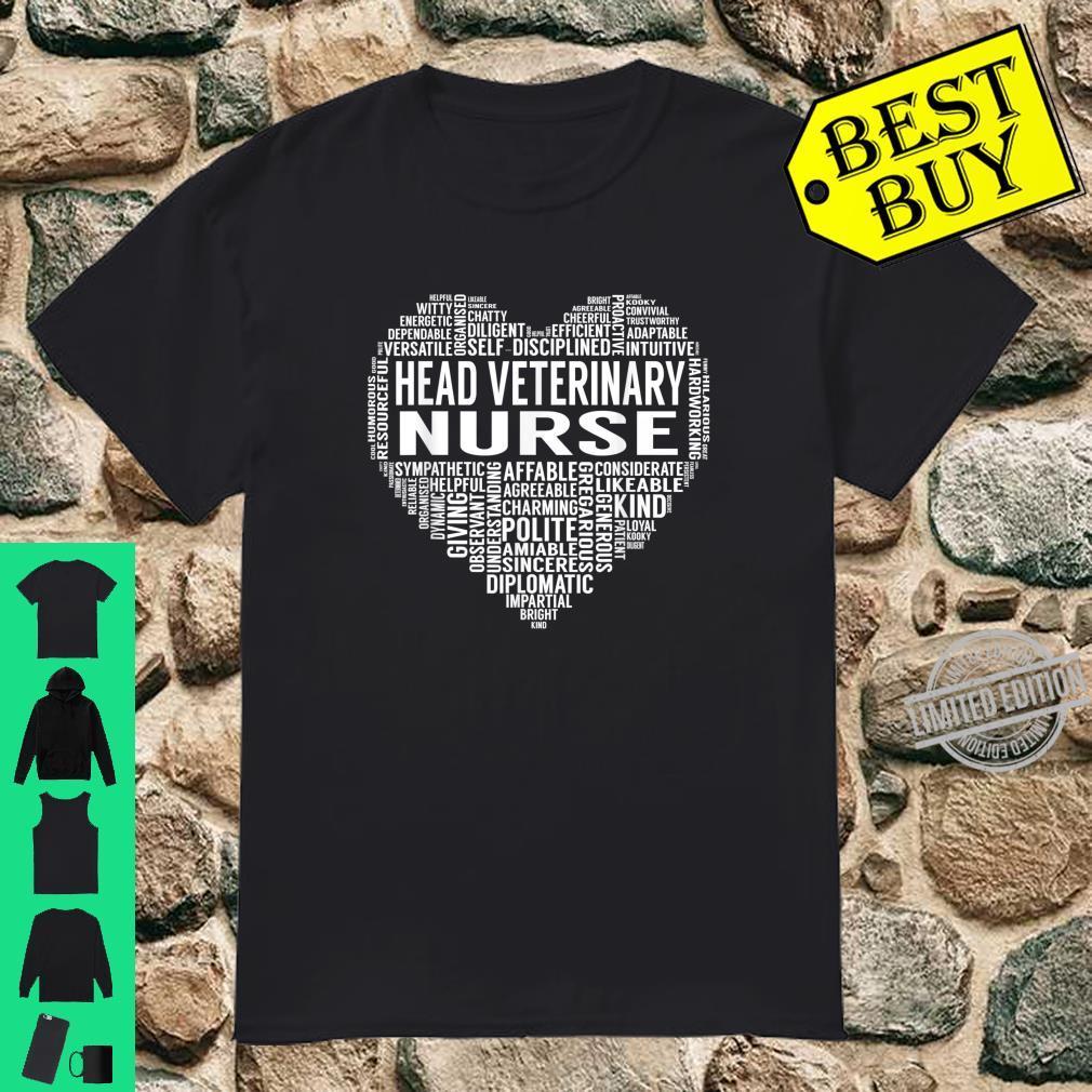 Head Veterinary Nurse Heart Shirt
