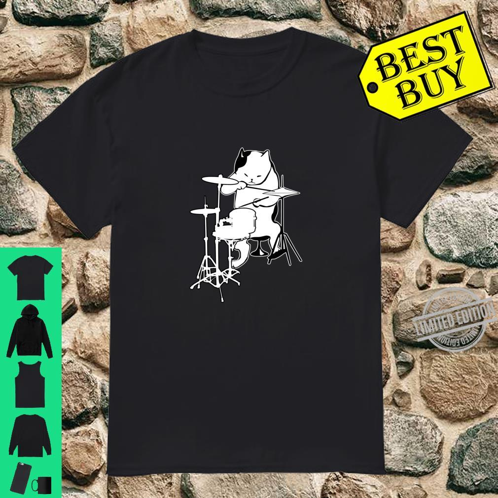 In My Head My Cat Always Play Drums Music Drum Shirt