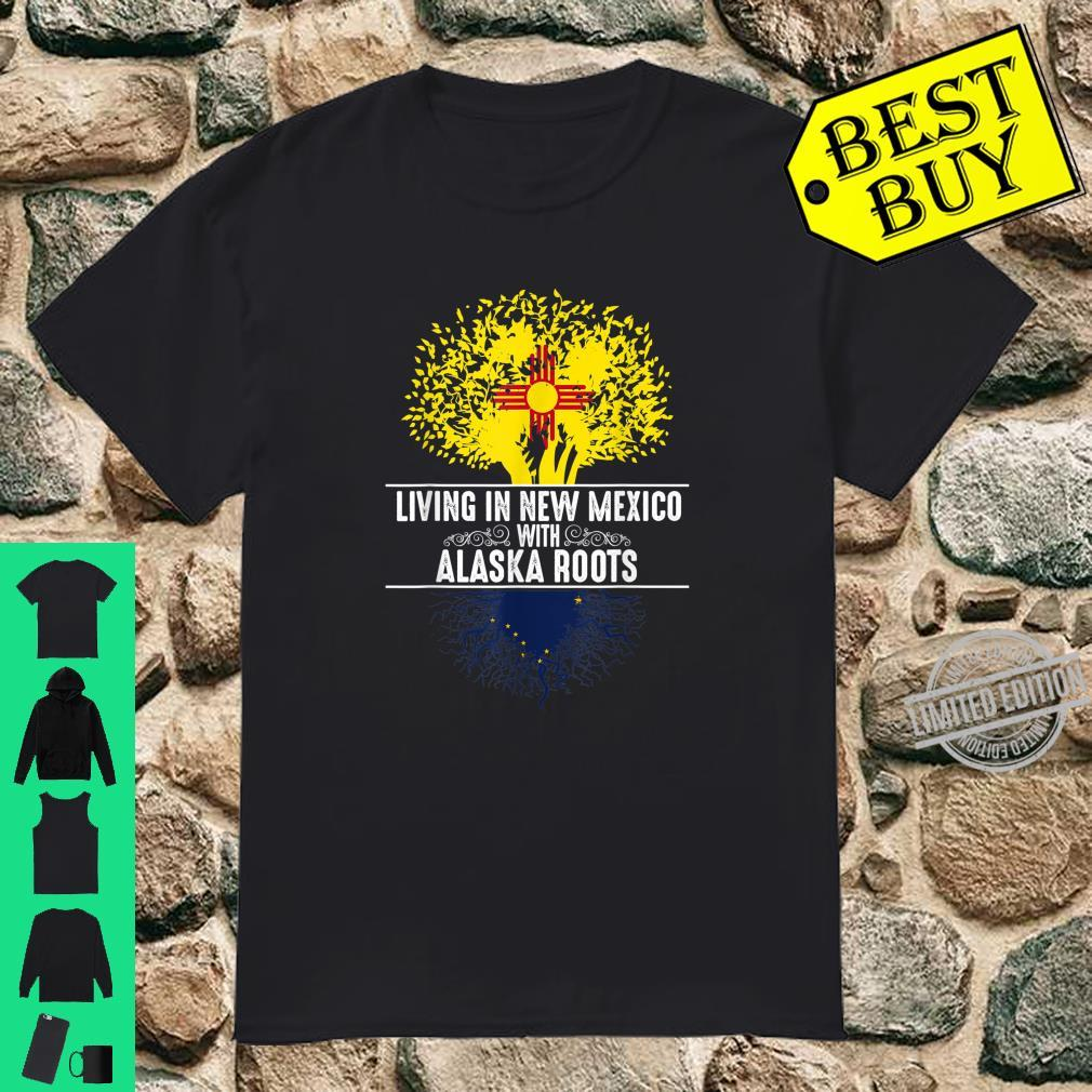 New Mexico Home Alaska Roots State Tree Flag Love Shirt