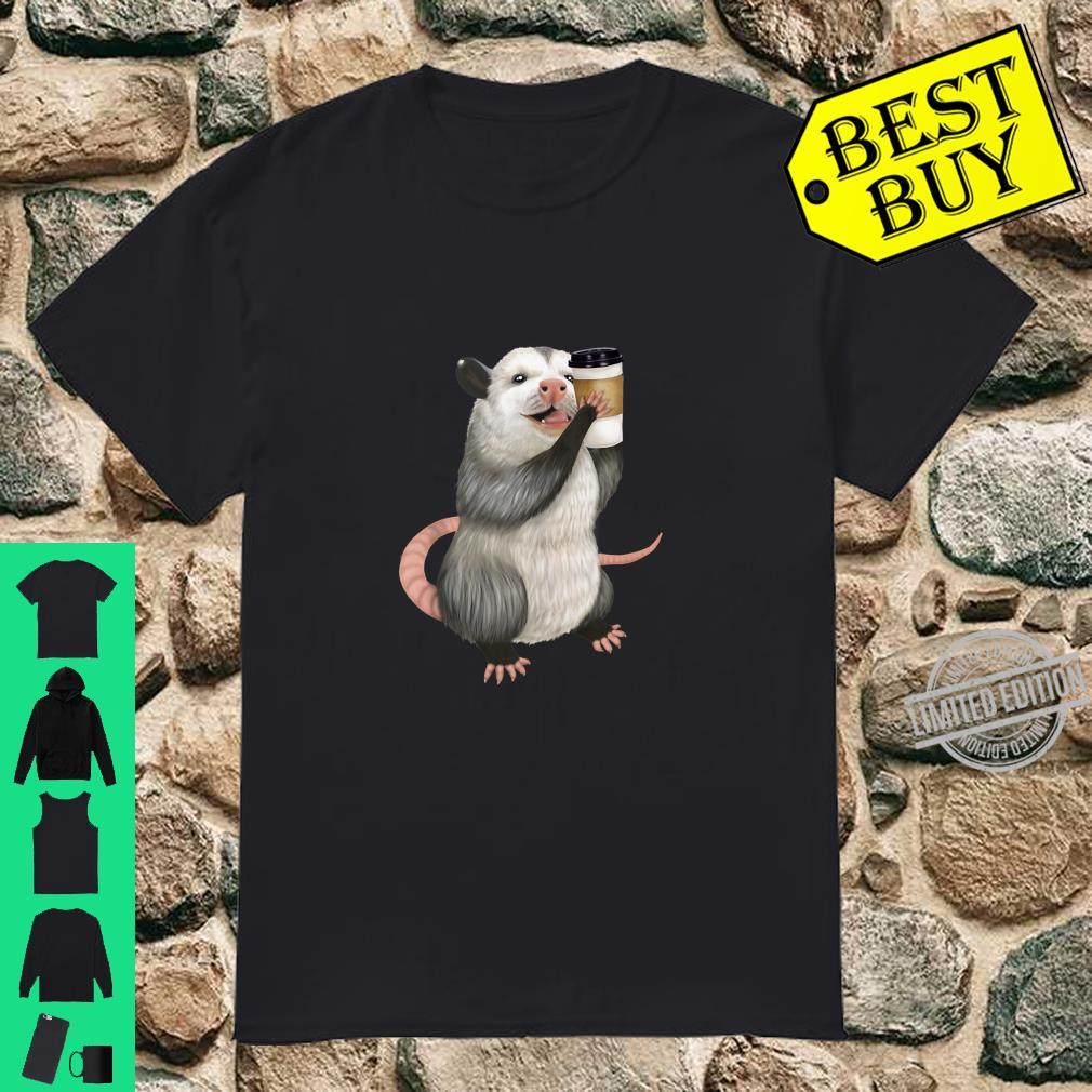 Opossum drinking a cup of coffee Shirt