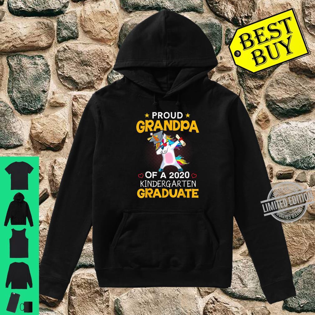 Proud Grandpa Of A 2020 Kindergarten Graduate Unicorn Dab Shirt hoodie