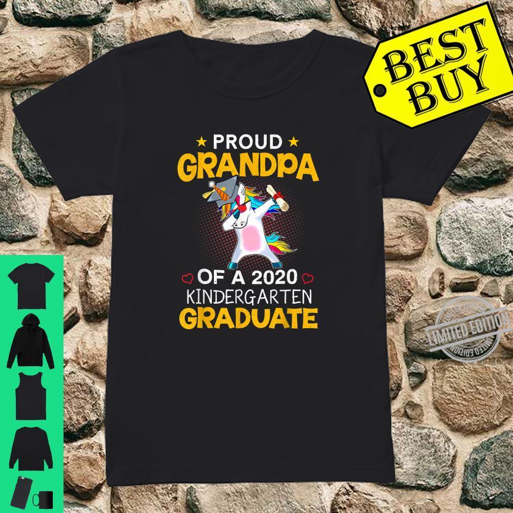 Proud Grandpa Of A 2020 Kindergarten Graduate Unicorn Dab Shirt ladies tee