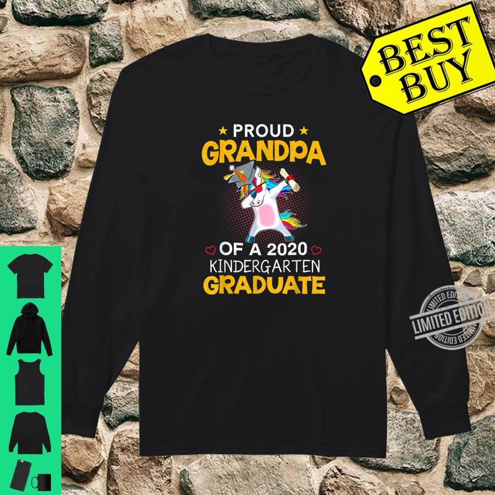 Proud Grandpa Of A 2020 Kindergarten Graduate Unicorn Dab Shirt long sleeved