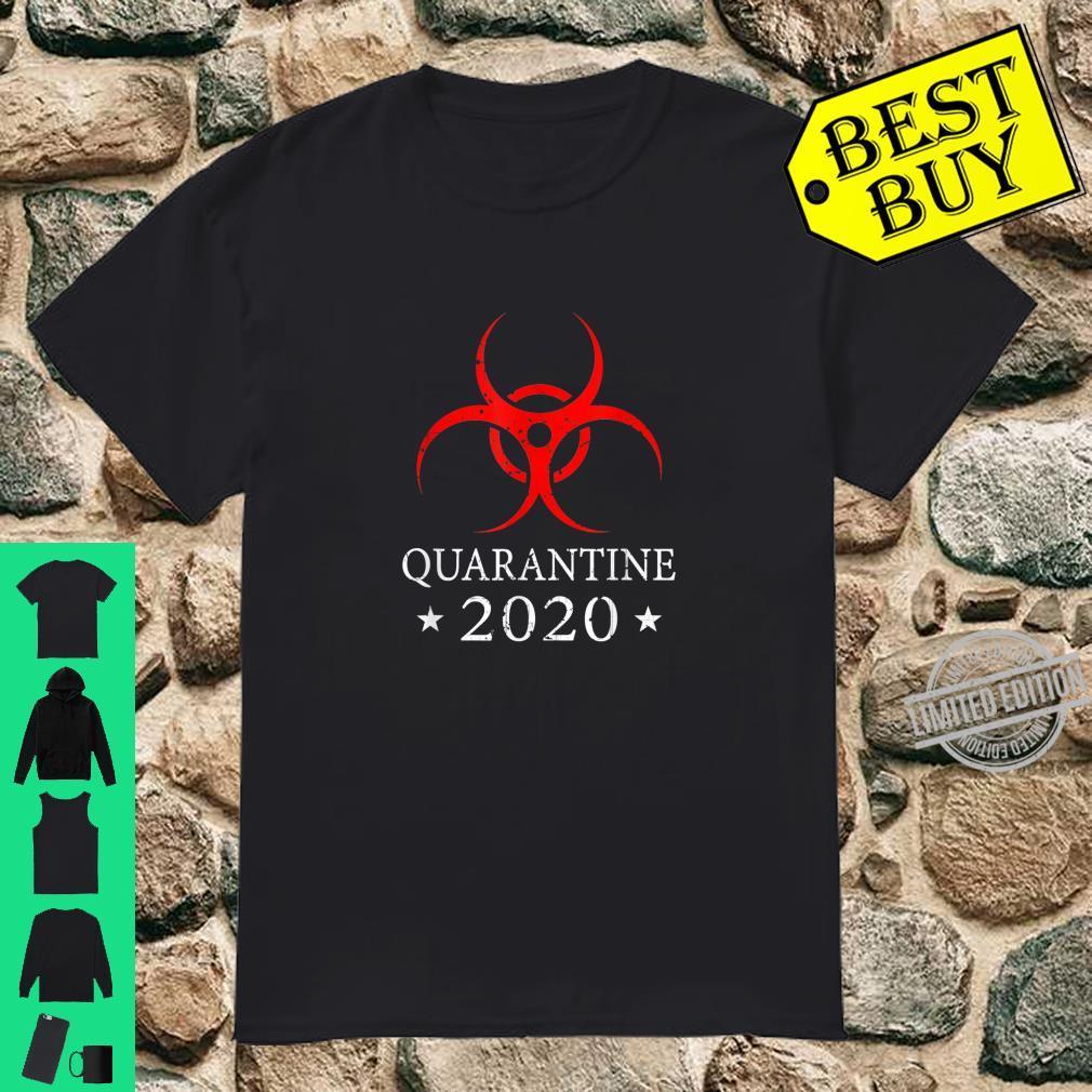 Quarantine 2020 BioHazard Distressed Community Awareness Shirt