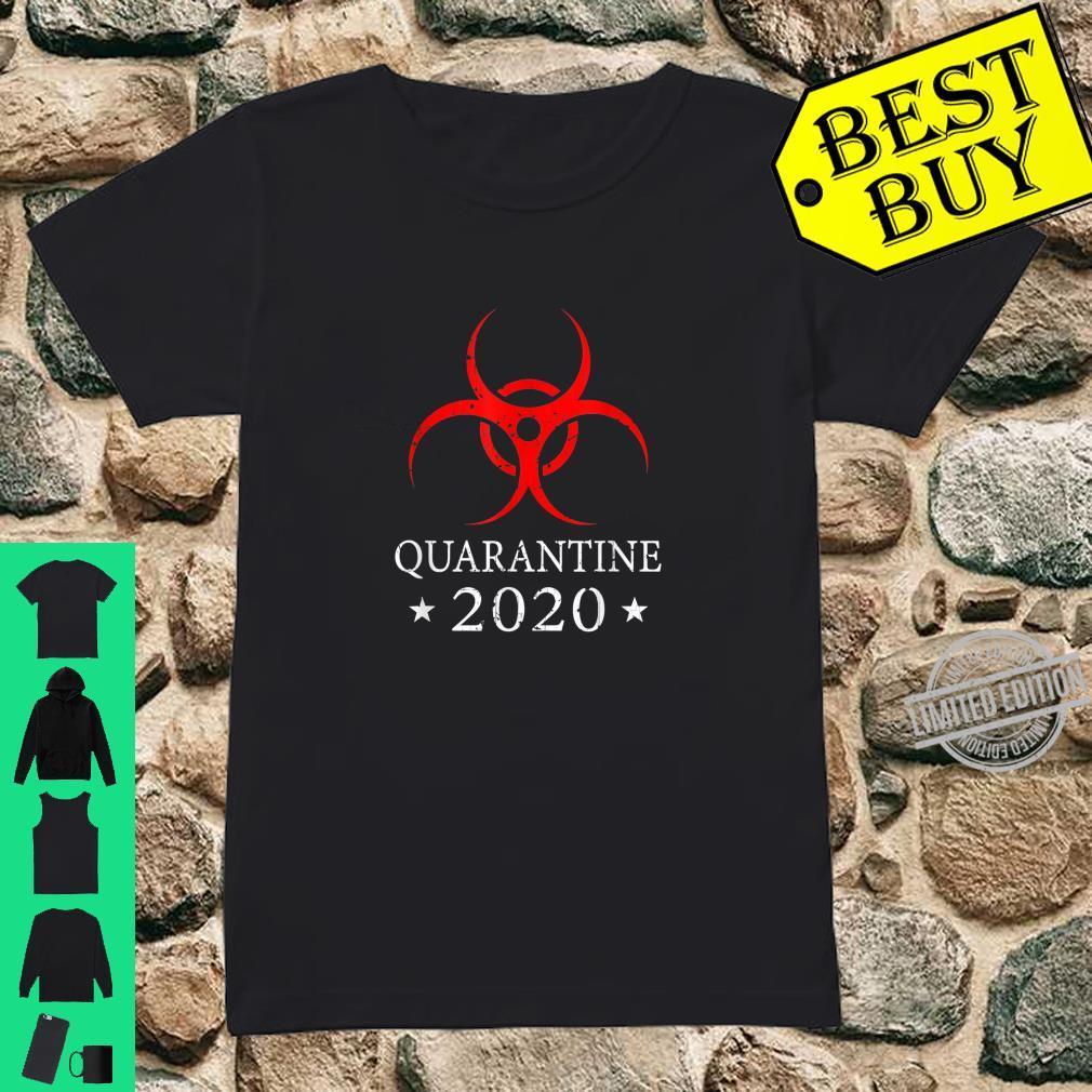 Quarantine 2020 BioHazard Distressed Community Awareness Shirt ladies tee