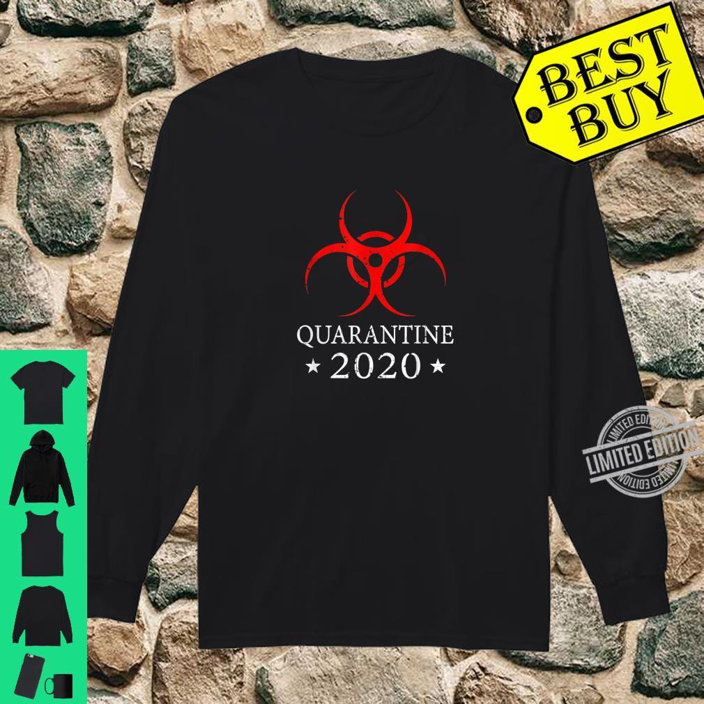 Quarantine 2020 BioHazard Distressed Community Awareness Shirt long sleeved