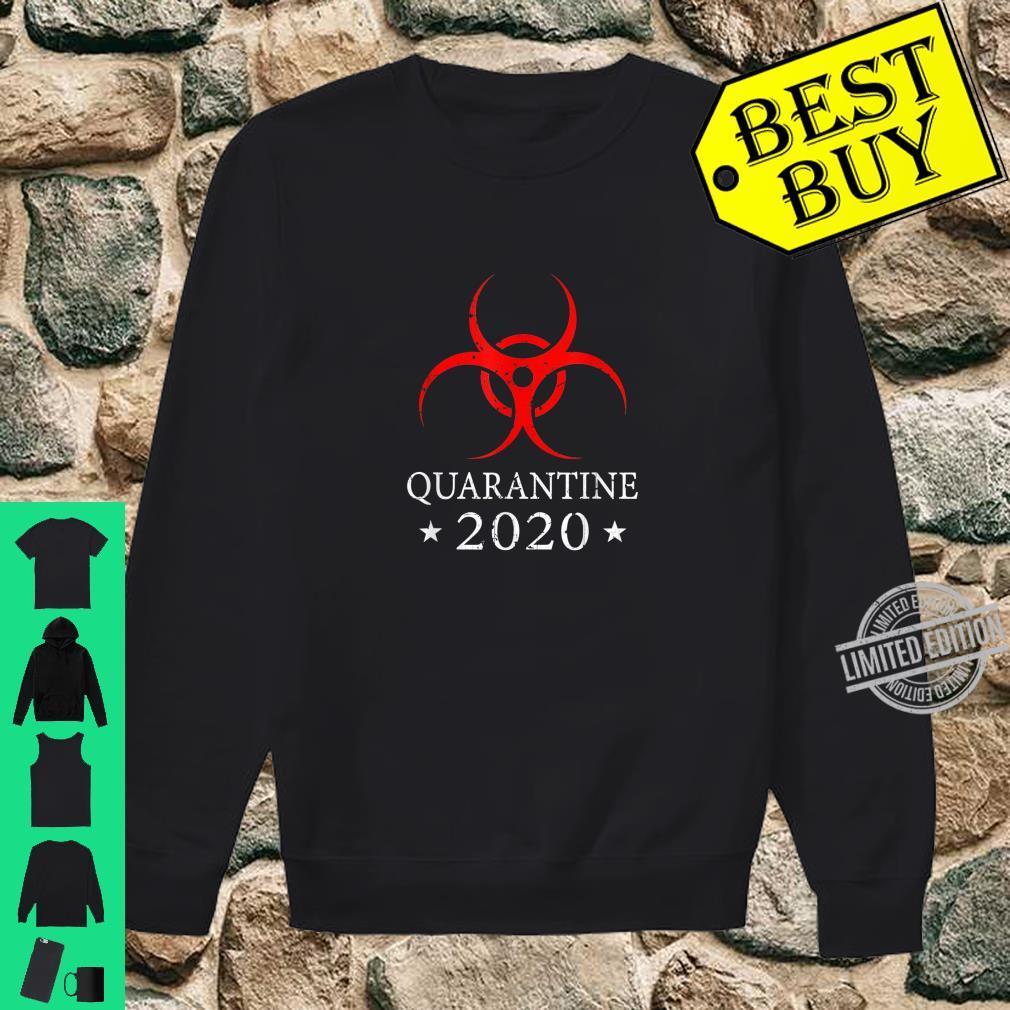 Quarantine 2020 BioHazard Distressed Community Awareness Shirt sweater