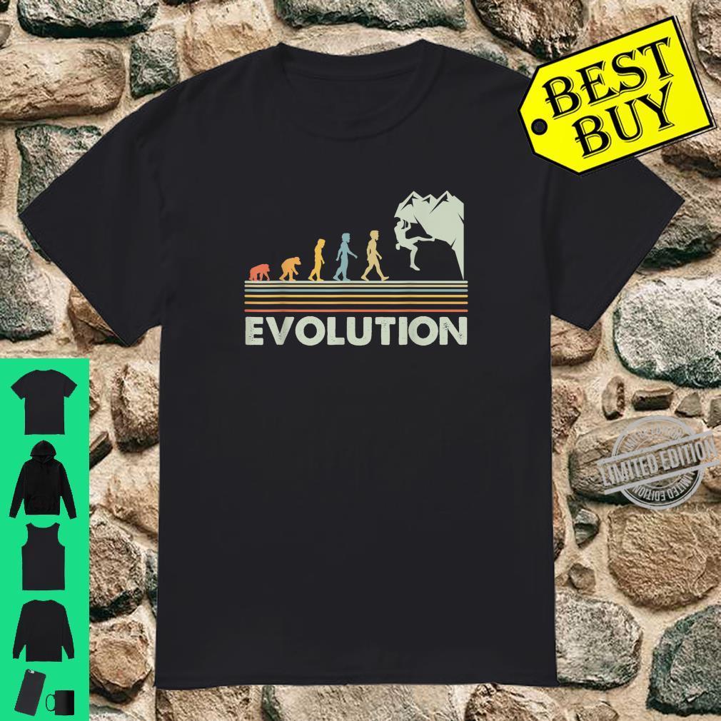Rock Climbing Shirt Novelty Evolution Mountain Climbing Shirt