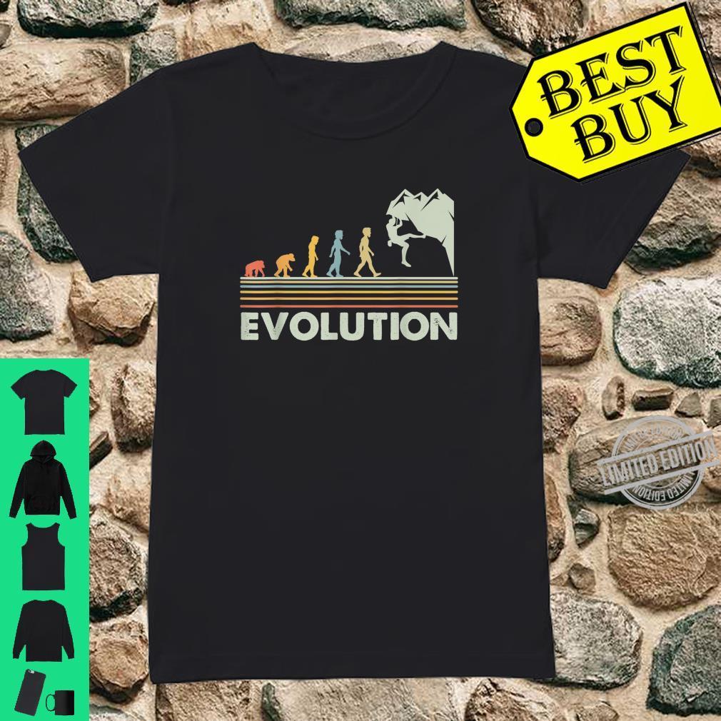 Rock Climbing Shirt Novelty Evolution Mountain Climbing Shirt ladies tee