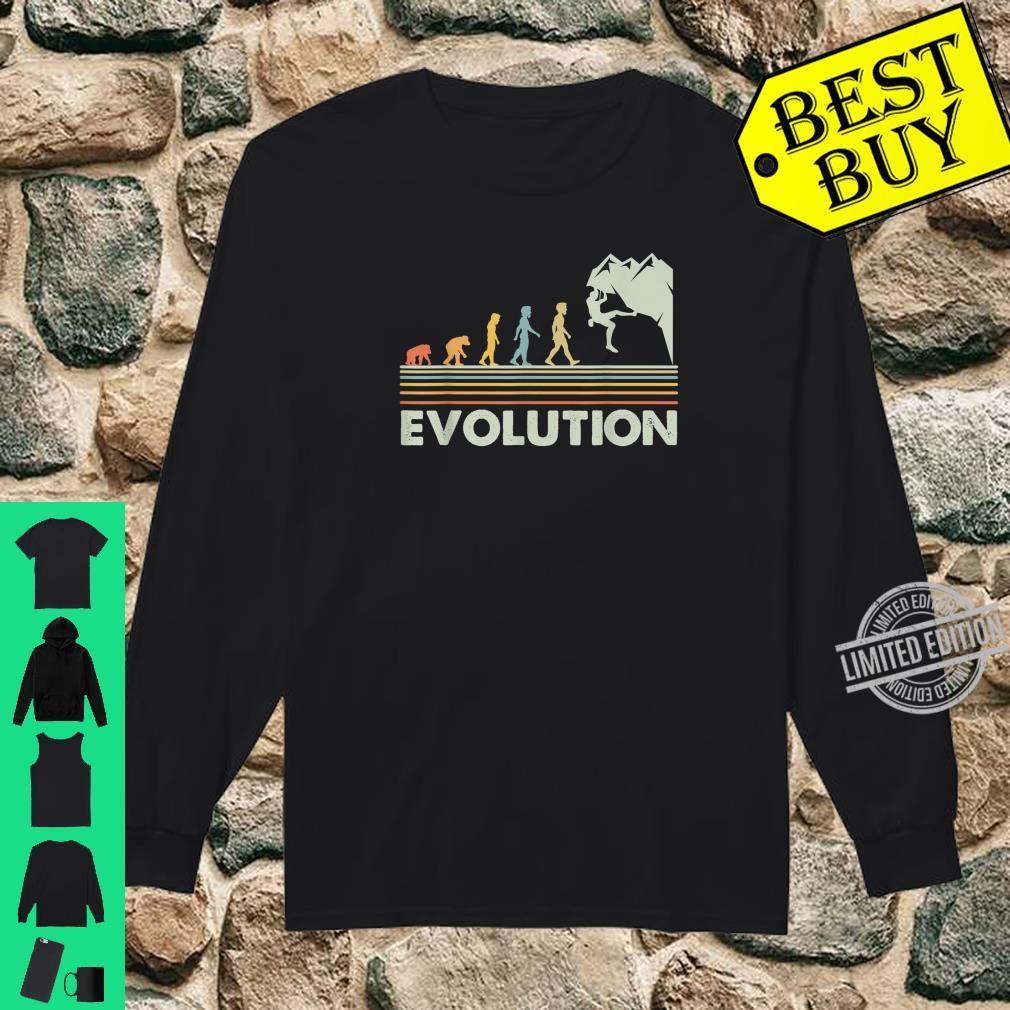 Rock Climbing Shirt Novelty Evolution Mountain Climbing Shirt long sleeved