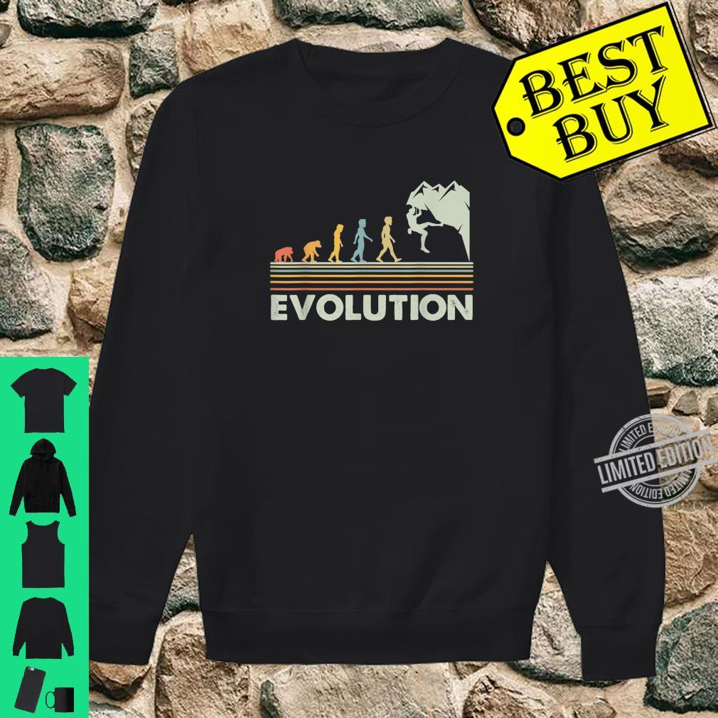 Rock Climbing Shirt Novelty Evolution Mountain Climbing Shirt sweater